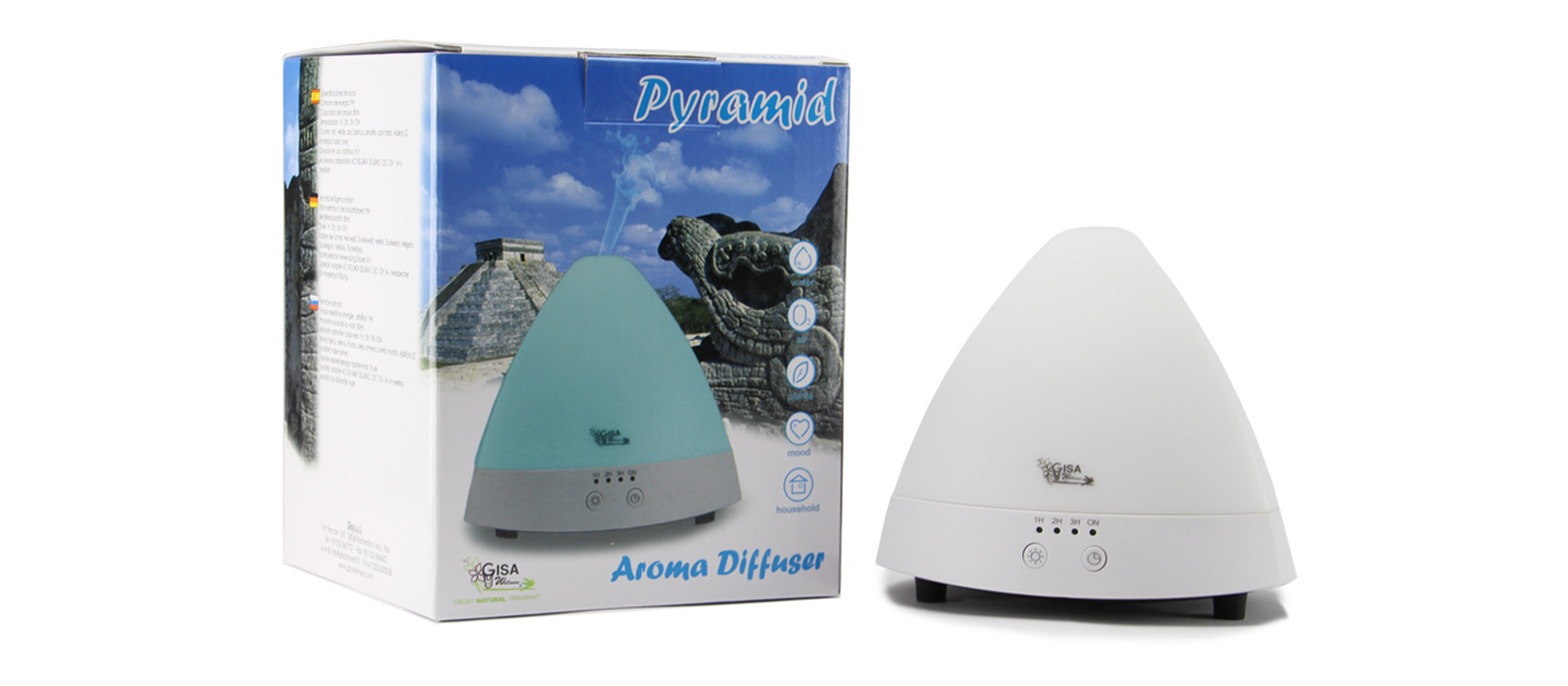 Pyramid - diffuser with separate tanks